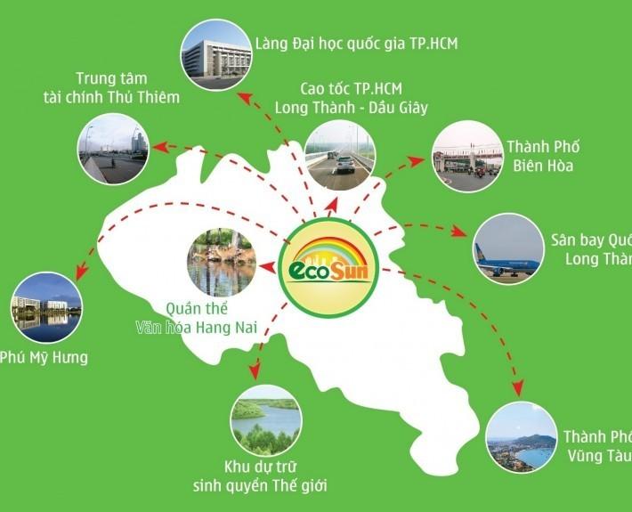 Dự án Eco Sun kết nối với những tiện ích xung quanh