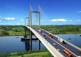 Mô hình dự án cầu Bình khánh Bến Lức-Long Thành