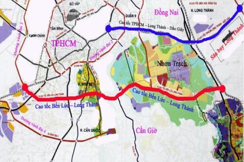 đường cao tốc bến lức Nhơn Trạch Long Thành